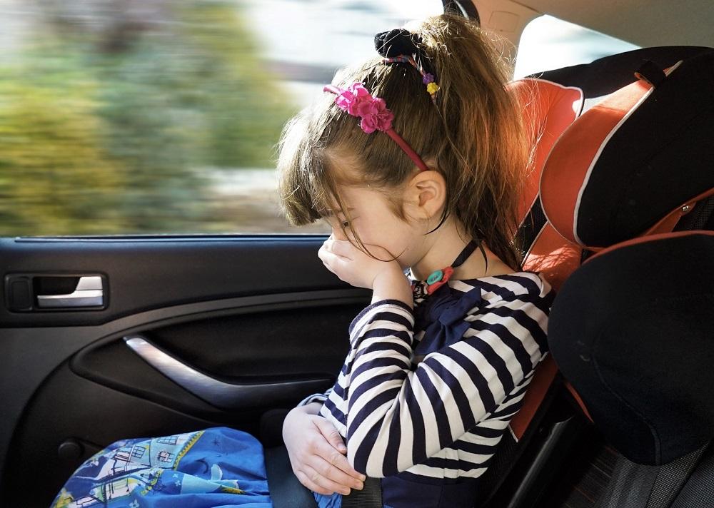 Chứng say xe có thể xảy ra ở trẻ